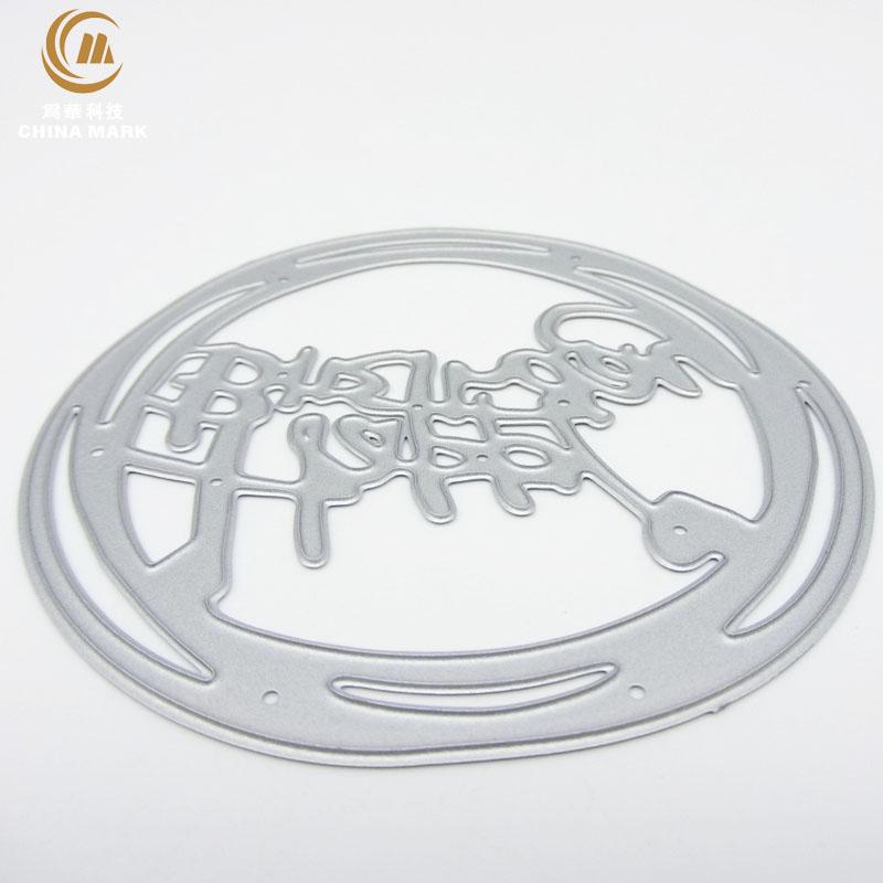 DIY aliexpress metal cutting dies, scrapbook metal etching happy birthday letter carbon steel metal die cuts