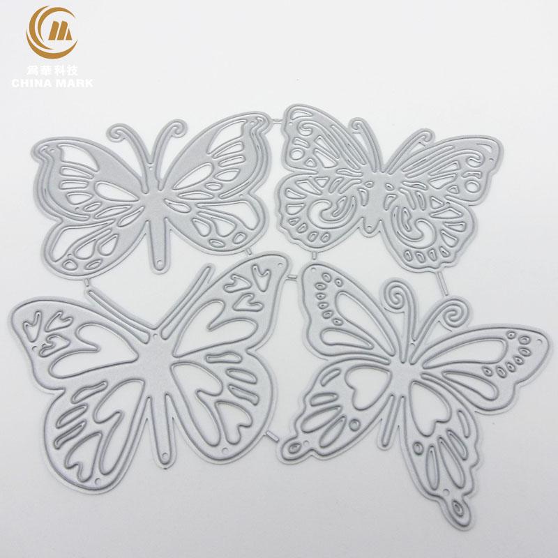 DIY unbranded craft dies from china, Scrapbook etching four butterflies cross-border explosive carbon steel die cut