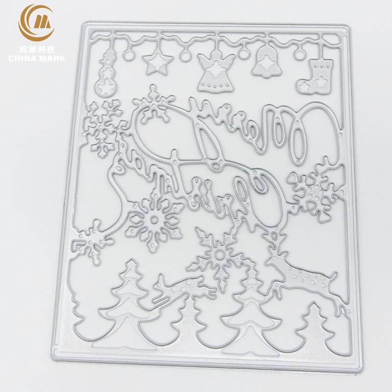 DIY unbranded metal cutting dies, scrapbook etching christmas number letter embossed carbon steel die cut