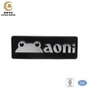 Metal logo plates